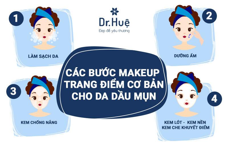 Cách trang điểm makeup che mụn hiệu quả cho làn da dầu mụn