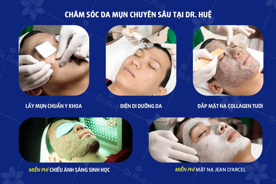 Liệu trình chăm sóc da chuyên sâu tại Dr. Huệ