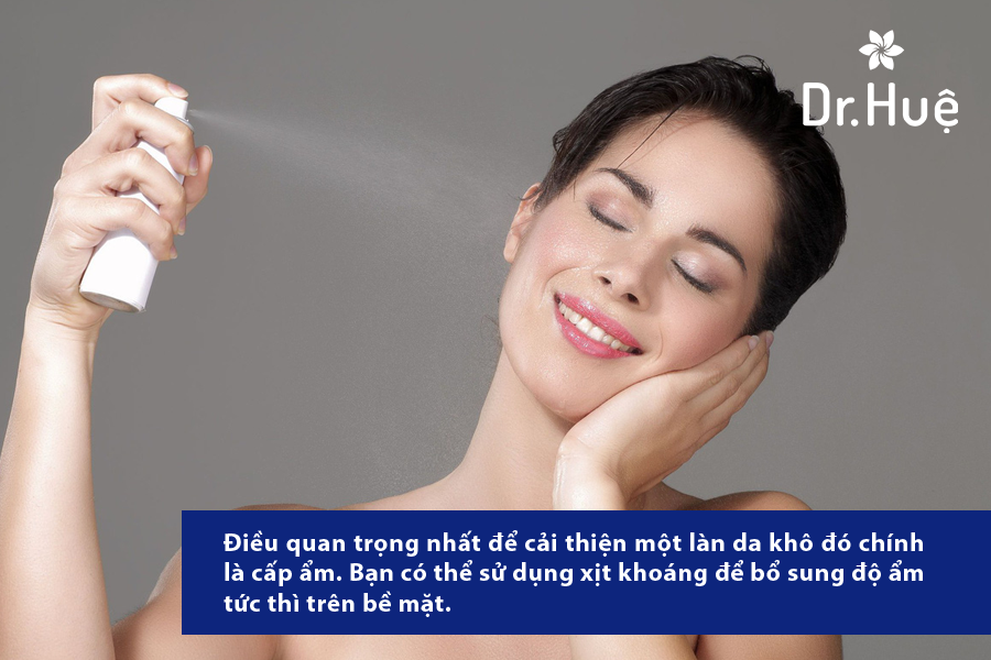Dưỡng ẩm rất cần thiết cho da khô