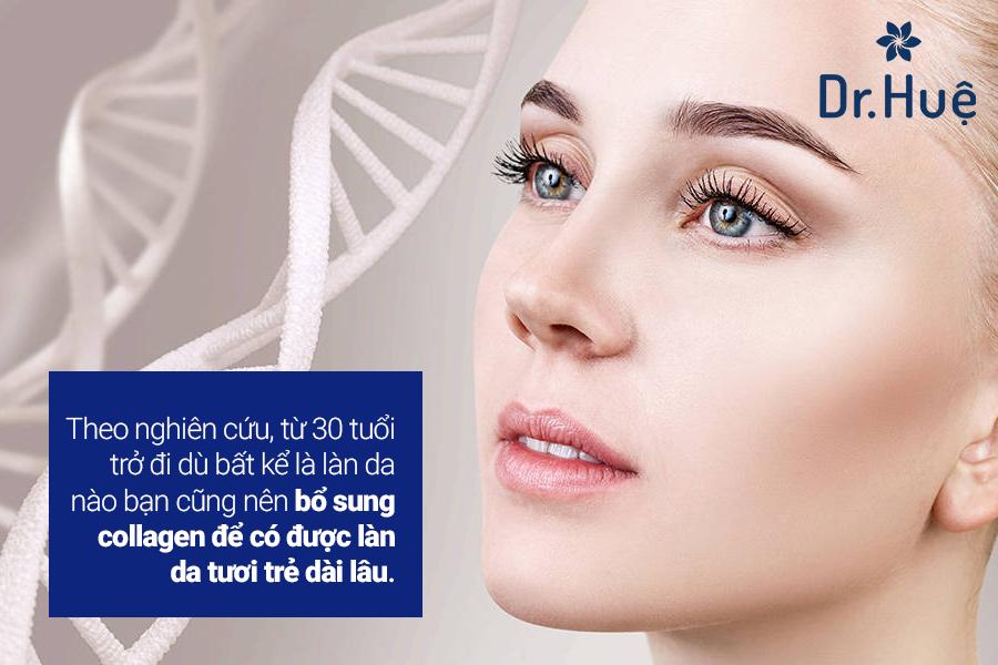Da nhờn có nên dùng collagen hay không?