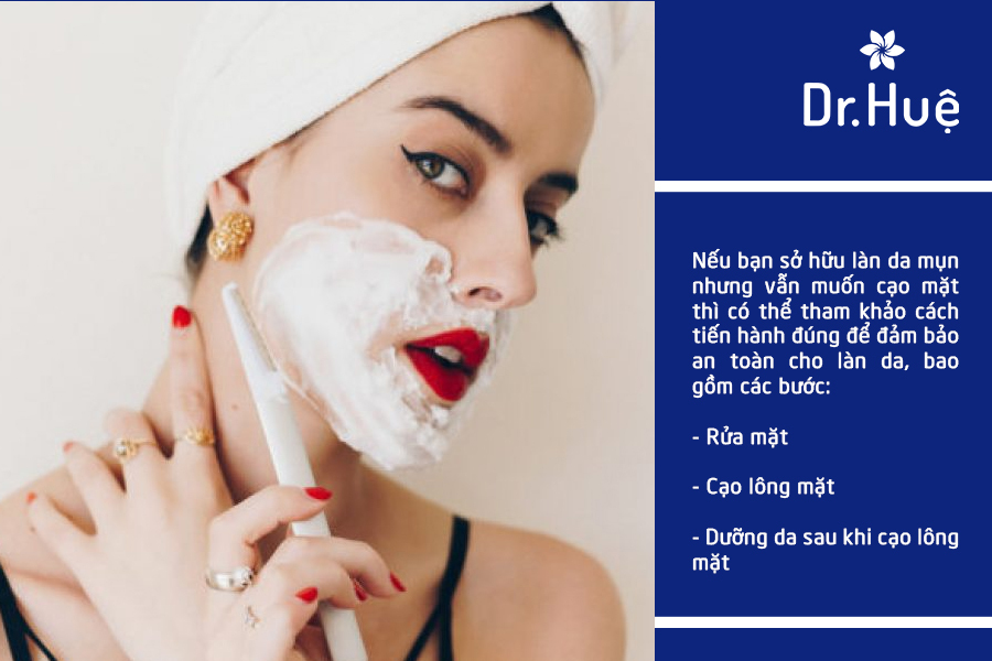 Cách cạo lông mặt không bị mụn