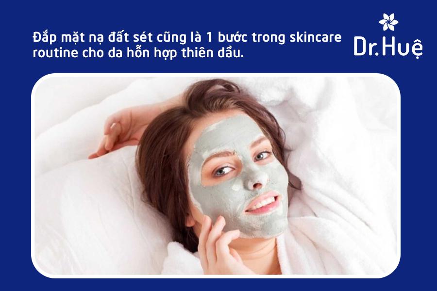 Bước 3 trong skincare routine cho da hỗn hợp thiên dầu: Mặt nạ