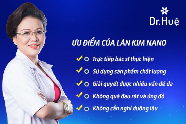 Ưu điểm của lăn kim Nano tại Dr. Huệ