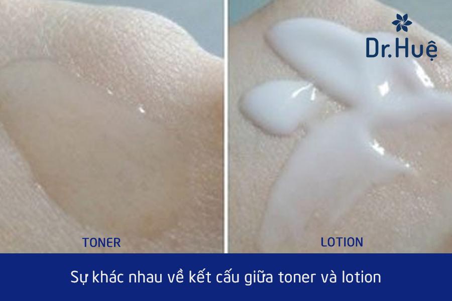 Sự khác nhau giữa toner và lotion