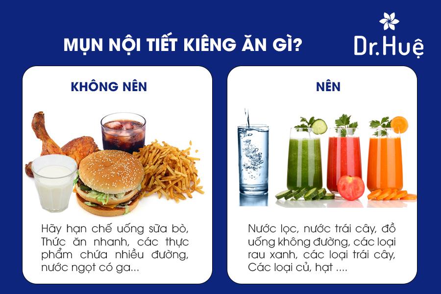 Nên ăn gì và không nên ăn gì khi bị mụn nội tiết?