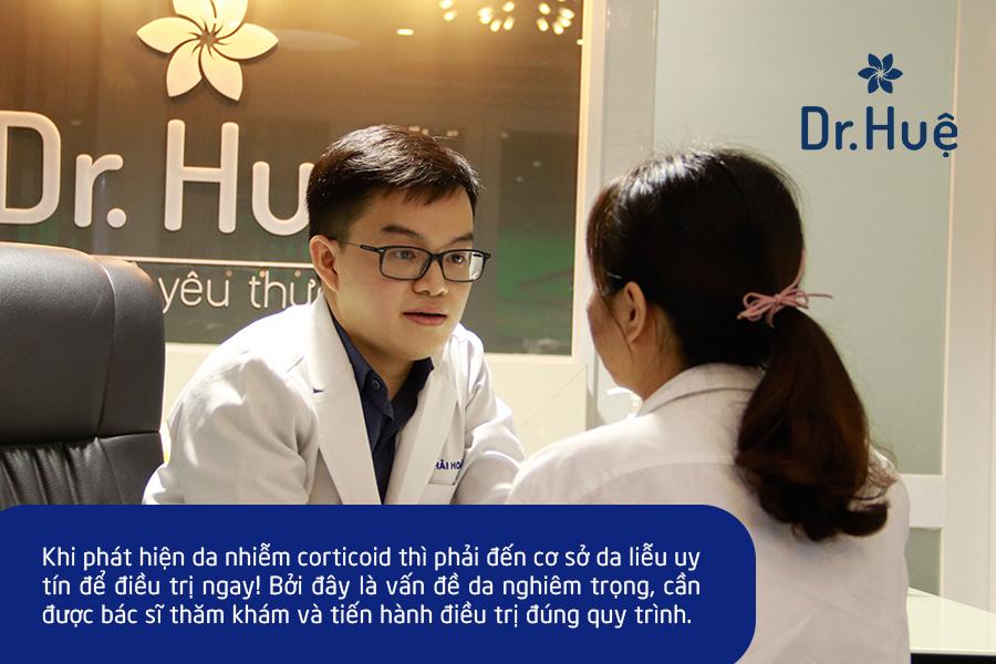 Nên đến cơ sở da liễu uy tín để được điều trị viêm da nhiễm corticoid