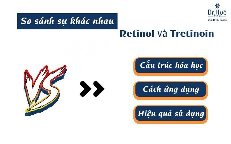 Một vài điểm khác nhau giữa retinoil và tretinoin