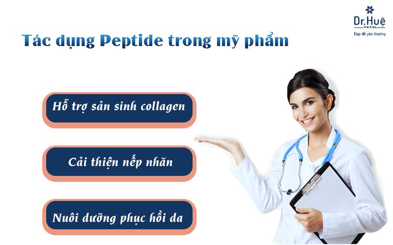 Peptide trong mỹ phẩm có tác dụng là gì?