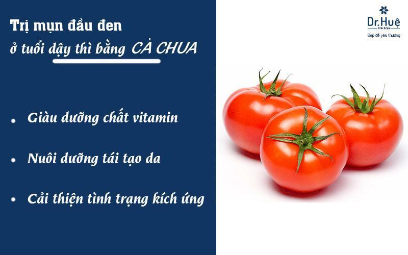 Cách trị mụn tuổi dậy thì bằng cà chua