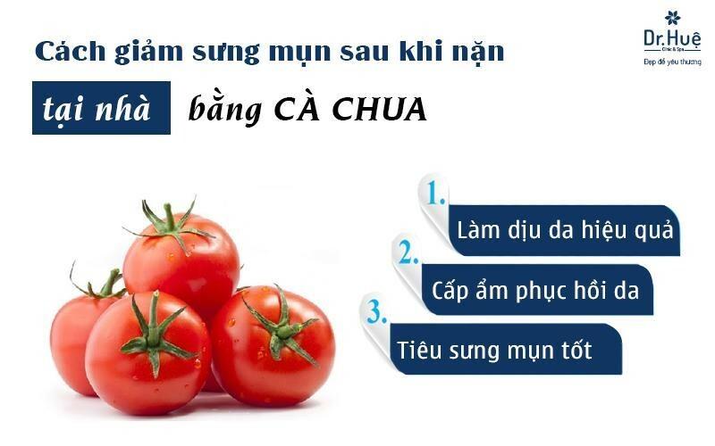 MẶt nạ cà chua giảm sưng đỏ sau khi nặn mụn