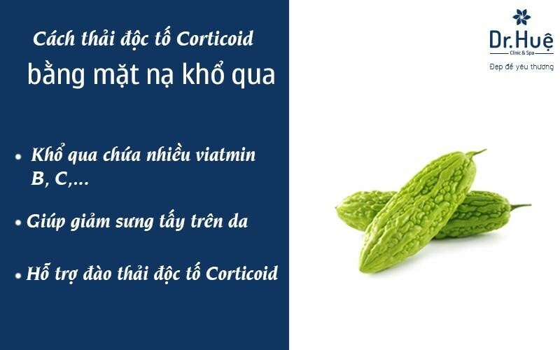 Thải độc tố cho da nhiễm corticoid bằng mướp đắng