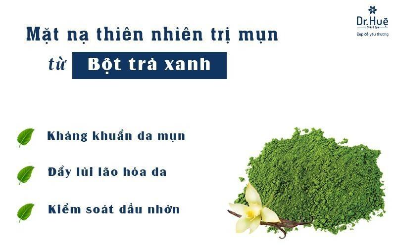 Mặt nạ thiên nhiên trị mụn từ trà xanh