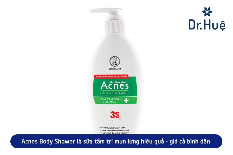 Sữa tắm trị mụn lưng từ Acnes