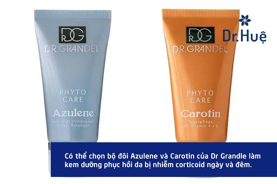 Bộ đôi kem dưỡng ẩm cho da nhiễm corticoid từ hàng Dr. Grandel
