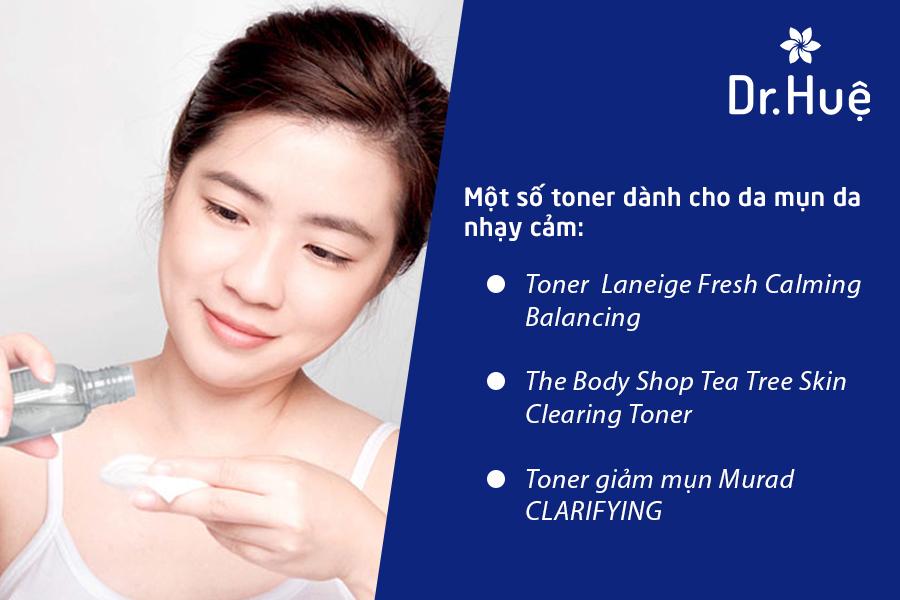 3 loại toner cho da mụn nhạy cảm lỗ chân lông to mà bạn có thể tham khảo