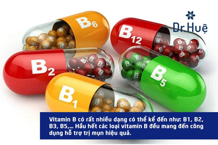 Các loại vitamin B cũng rất tốt cho da mụn
