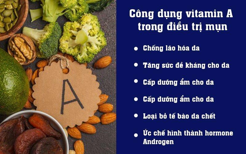 Công dụng của vitamin A trong điều trị mụn