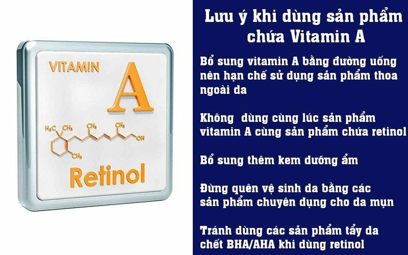 Lưu ý khi dùng sản phẩm chứa Vitamin A
