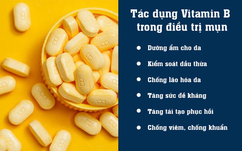 Tác dụng Vitamin B trong điều trị mụn