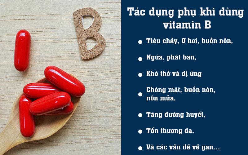 Tác dụng phụ khi dùng vitamin B