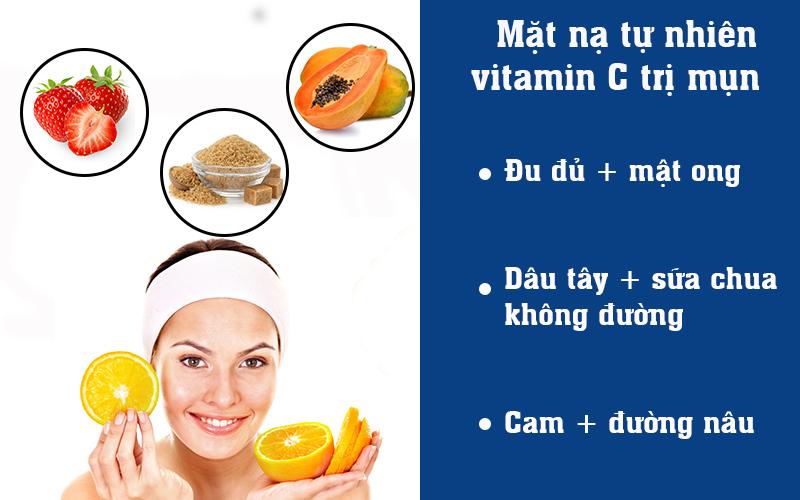 Mặt nạ tự nhiên vitamin C trị mụn