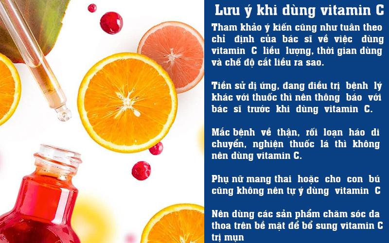 Lưu ý khi dùng vitamin C
