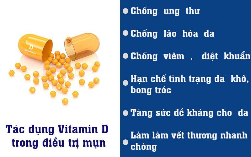 Tác dụng Vitamin D trong điều trị mụn