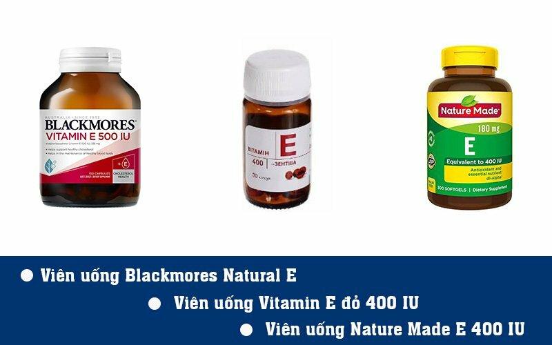 3 sản phẩm bổ sung vitamin E