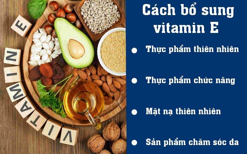 Cách bổ sung vitamin E