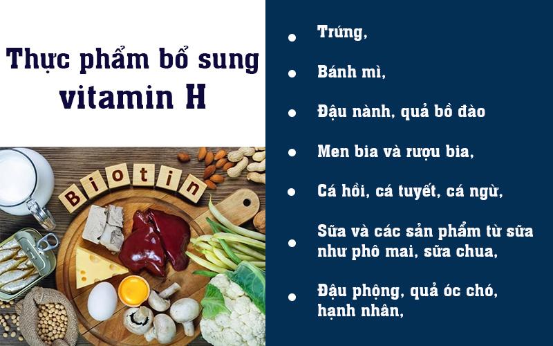 Thực phẩm bổ sung vitamin H
