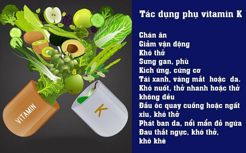 Tác dụng phụ của vitamin K