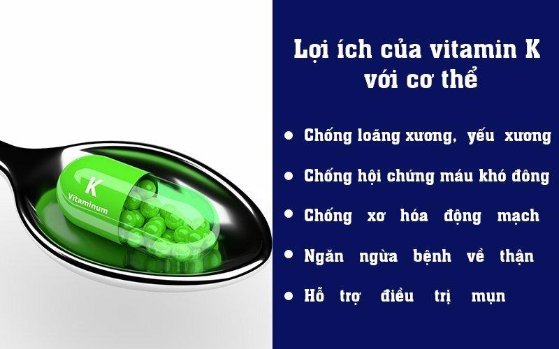 Lợi ích của vitamin K với cơ thể