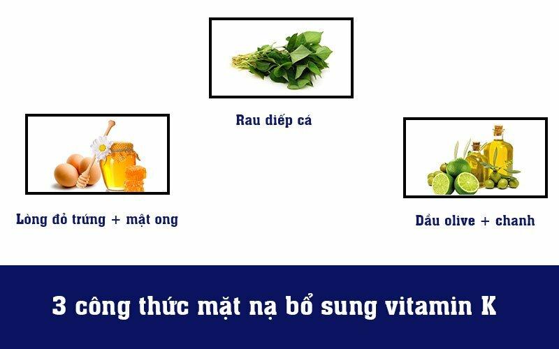 3 công thức mặt nạ bổ sung vitamin K