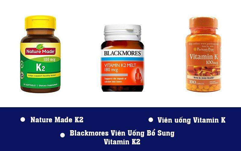 Một số sản phẩm bổ sung vitamin K